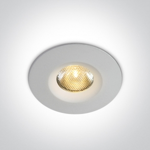 10103 M/W/W Spot Incastrat Fix Cob Led, 3W, IP65, Diametru 46 mm