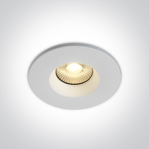 10107 DFV/W, Spot Incastrat Fix Led, 7W, IP65, Diametru 88mm