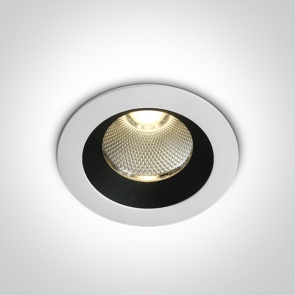 10110 M/W/W Spot Incastrat Fix Cob Led, 12W, IP65, Diametru  85mm