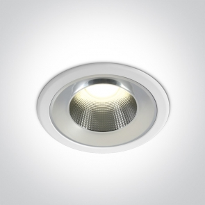 10118TD/W/C Downlight Led Incastrat, Fix, 18W, IP54, Diametru 170mm x Adancime 86mm