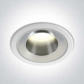 10125TD/W/C Downlight Led Incastrat, Fix, 25W, IP54, Diametru 235mm x Adancime 100mm