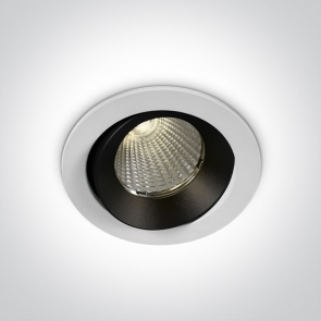 11112P/W/W Spot Incastrat Orientabil, Cob Led, 12W, Dark Light, IP65, Diametru 85mm x Adancime 80mm