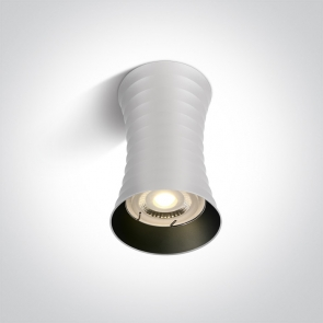 12105L/W Spot aplicat fix, GU10, 10W, IP20, Diametru 70mm x Inaltime 115mm
