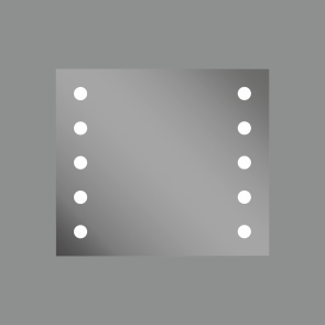 Oglinda Iluminata Hollywood, Touch, Led, 2x11W, IP 44, Latime 700mm x Lungime 8000/1100mm