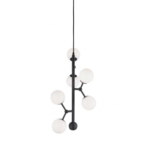 Suspensie verticala Atom 6 globuri, diametru 30cm, G9, 28W
