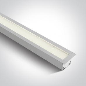 38145AR/W/C, Profil linear led Incastrat, 40W, UGR19, Dimensiuni 1210mm (L) x 50mm (l) x 55mm (h)