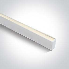 38150A/W/W Profil echipat cu led, 40W, UGR 19, Dimeniuni  (L)1200mm x (l)70mm x  (h)50 mm