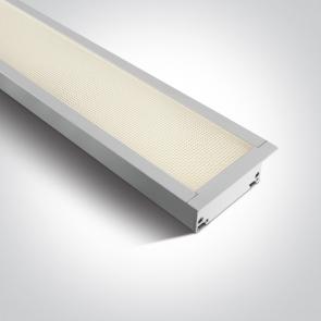 38150AR/W/W Profil echipat cu led, 40W, UGR 19, Dimeniuni  (L)1210mm x (l)80mm x  (h)55 mm