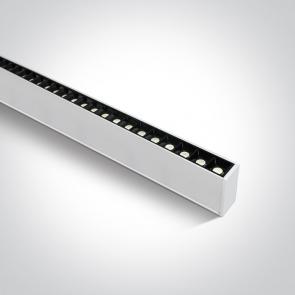38150B/W/W Profil echipat cu led, 40W, UGR 17, Dimeniuni  (L)1300mm x (l)70mm x  (h)35 mm