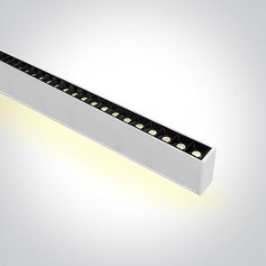 38150BU/W/W Profil echipat cu 48 spoturi led, 40W, UGR 17, Dimeniuni  (L)1300mm x (l)70mm x  (h)35 mm