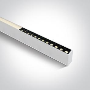 38150C/W/W Profil echipat cu led, 40W, UGR 19, Dimeniuni  (L)1200mm x (l)70mm x  (h)35 mm