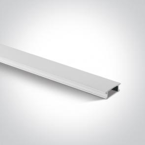40002C/W Capac Plastic pentru sina trifazata, Dimensiuni 19mm (l) x 6mm(h)