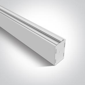 40020/W Profil pentru sina trifazata, Dimensiuni 210mm(L) x 45mm(l) x 80mm(h)