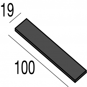60830, Kit de instalare in rigips Gypsum, 100mm x 19mm