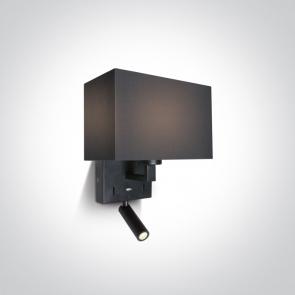 61120/B/W Aplica De Citit, Orientabila, E27 (12W) si Led (3W), IP20,  Lungime 210mm x latime 120mm x Inaltime 320mm