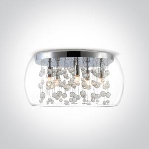 62166B Plafoniera cu Cristale, G9, 5x9W, IP20, Diametru 400mm x Inaltime 250mm