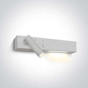 65146/W/W Aplica De Citit, Orientabila, 2 surse Led (3W, 6W), IP20, Lungime 300mm x Latime 35mm x Inaltime 50mm