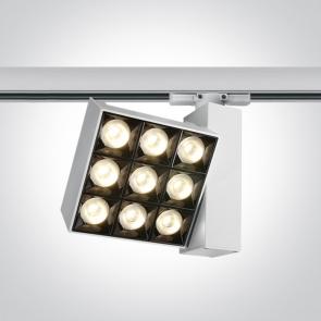 65906BT/W/W  Proiector montaj pe sina, 3 Circuite, Cob Led, 30W, 119mm(L) x 119mm(l) x 54mm(Grosime) x 148mm(H)
