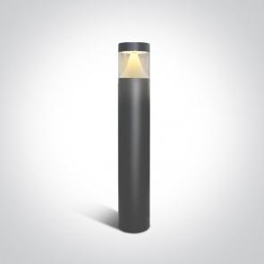 67410/AN/W-C Stalpisor Metalic Led, Lumina Difuza , 12W, 250mA, IP65, Diam. 120mm, Inaltime 800mm