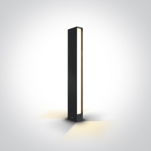67460B Stalpisor Metalic, Led, 2x6W, 300mA, IP54, 100mm (L) x 50mm (l) x 600mm (H)
