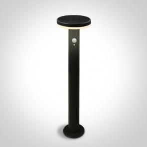 67500A/B/EW Stalpisor Solar Led Exterior, Senzor de miscare, 6W, IP44, Diametru 160mm x Inaltime 450mm