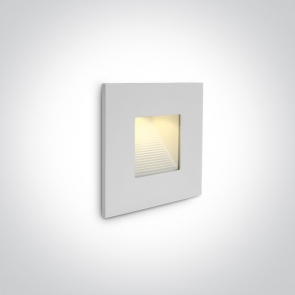 68006N/W Spot de Veghe Incastrat, 1W, Dark Light, IP44,  Lungime 85mm x Latime 85mm x Adancime 32mm