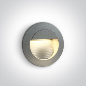 68022/G/W Spot de Veghe Incastrat, 1.4W, Dark Light, IP54, Diametru 125mm