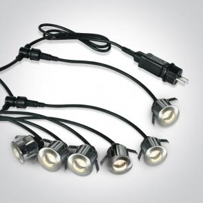 69002A/W Proiectoare  Pardoseala UP Light, Incastrat , IP67, Led 6x0.5W, Diametru 35mm x Adancime 40mm