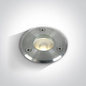 69012/W Proiector Pardoseala Incastrat, Led, 3W, IP67, Diametru 69mm x Adancime 104mm