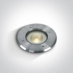 69040/W Proiector Pardoseala Incastrat, UP LIGHT, Led, 10W, IP67, IK10, Diametru 125mm x Adancime 185mm