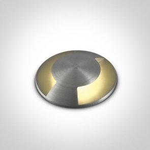 69042B/AL/W Proiector Pardoseala, Incastrat, Dimmabil, Led, 1W, IP67, IK08, Diametru 37mm x Adancime 53mm