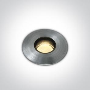 69042M/AL/W Proiector Pardoseala UP Light, Incastrat, Dimmabil, Led, 1W/2W, IP67, IK08, Diametru 27mm x Adancime 44mm