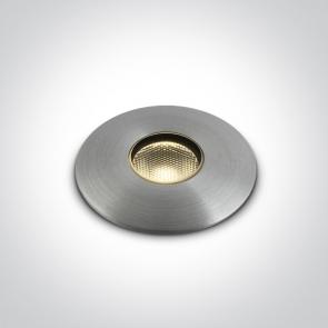69042/AL/W Proiector Pardoseala UP Light, Incastrat, Dimmabil, Led, 1W, IP67, IK08, Diametru 37mm x Adancime 53mm