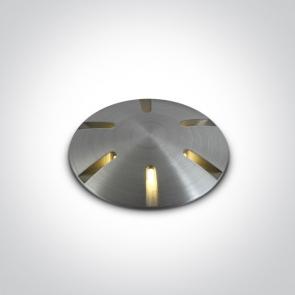 69044/AL/W Proiector Pardoseala, Incastrat, Dimmabil, Led, 1W, IP67, IK08, Diametru 37mm x Adancime 53mm