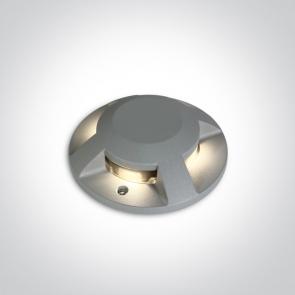 69058C/G/W Proiector Led pardoseala, Up Light, 4x3W, IP67, IK10, Diametru 200m x 42 inaltime