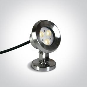 69064A/C Proiector Led Subacvatic, Orientabil si Dimmabil, 3x1W, IP68, Diametru 80mm x Inaltime 102mm