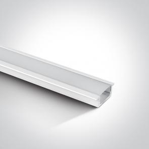7902R Profil led incastrat17mm, adancime 9mm lungime 2m
