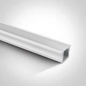 7904R Profil led incastrat 17mm, lungime 2m