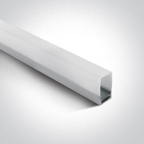 7906A/AL Profil led montaj  aplicat sau suspendat21mm, lungime 2m