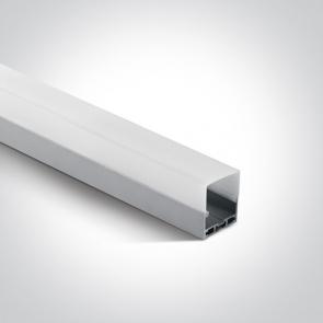 7906B/AL Profil led montaj aplicat sau suspendat, 35mm, lungime 2m