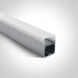 7906D/AL Profil led aplicat sau suspendat 55mm, lungime 2m