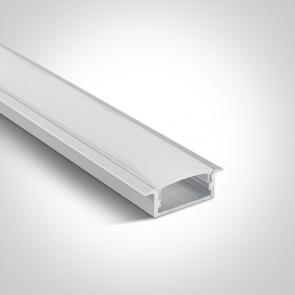 7906R Profil led  incastrat 20mm, lungime 2m