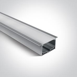 7910AR/AL Profil led incastrat 40mm, lungime 2m