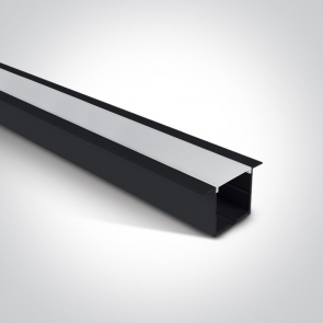 7910R/AL Profil led incastrat 36mm, lungime 2m