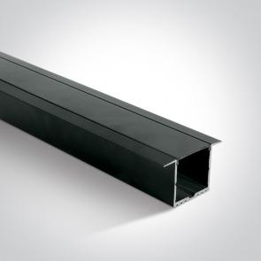 7910R/B/B Profil Led Incastrat, Lungime 2000mm x latime 36mm x 36mm Inaltime