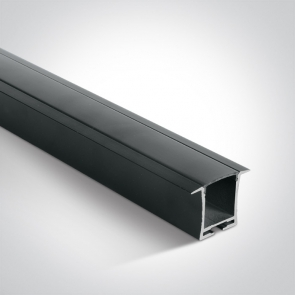 7912R/B/B Profil led Incastrat, Lungime 2000mm x latime 24mm x 28mm Inaltime