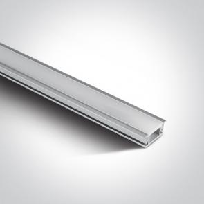7914R/AL Profil  led IP67 pardoseala 27mm, lungime 2m