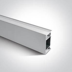 7916/AL Profil led perete Up&Down,  42mm, lungime 2m