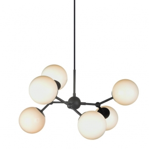 Suspensie Atom 6 globuri, 28W, G9, Diametru total 57cm