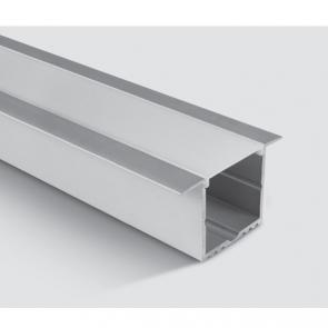 7910R/AL Profil incastrat 57mm, lungime 2m